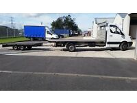 Flat bed Mercedes Sprinter and trailer