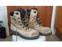 CAT Steel Toe Work Boots size 10 UK