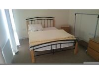Double bed frame with Silentnight mattress