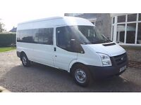 2011 FORD TRANSIT 15 SEATER MINIBUS 2.4 115 6 SPEED With TECHAGRAPH EX SCHOOL BUS