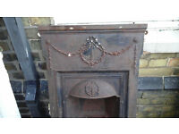 VERY PRETTY SMALL CAST IRON FIREPLACE