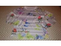 Colourful long sleeved top UK M new without tags