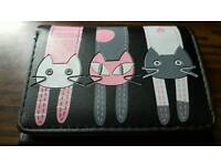 Cat purse black