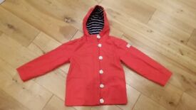 Joules red girls coat (age 6)