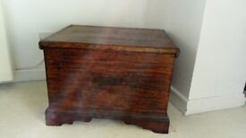 vintage box commode would make nice chest or coffee table