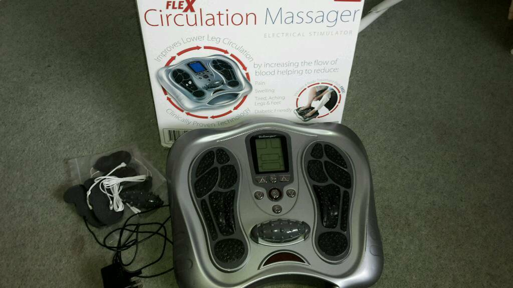 Electro Flex Circulation Massager in perfect working order complete with box and unused accessories