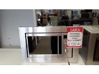 SILVER RUSSELL HOBBS MICROWAVE WITH BUILT IN FRAME ON FRONT CLEARANCE STOCK