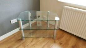 Glass and Metal TV Cabinet