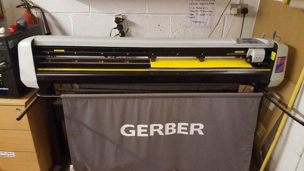 Gerber 1200mm Vinyl Cutter Summa Pc2 1200 Amp Stand Large