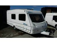 Luxury 4 berth caravan with motor mover, full awning and accessories