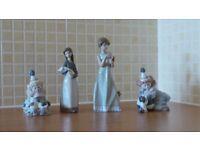 Lladro (4), Nao (3) and Royal Dalton (2) figurines