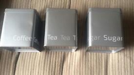 Tea/Coffee/Sugar containers.