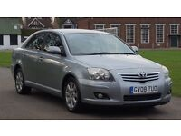TOYOTA AVENSIS 1.8 TR 08PLATE 2008 1P/LADY OWNER SINCE 2009 85000 MILES VOSA HISTORY SATNAV AIRCON