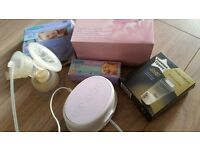Avent electric breast pump plus extras