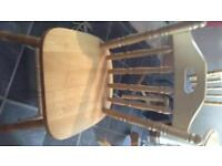 4 solid wood dining chairs,