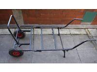 Large fishing barrow cheap carp tackle porter trolley