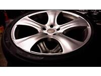 """4 x 22"""" Alloy Wheels with brand new Landsail tyres."""
