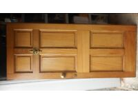 Hardwood external door and fittings