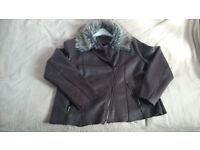Woman's Leather-like jacket size 18