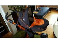 ABC Design 3 in one travel system stroller pram carrycot carseat