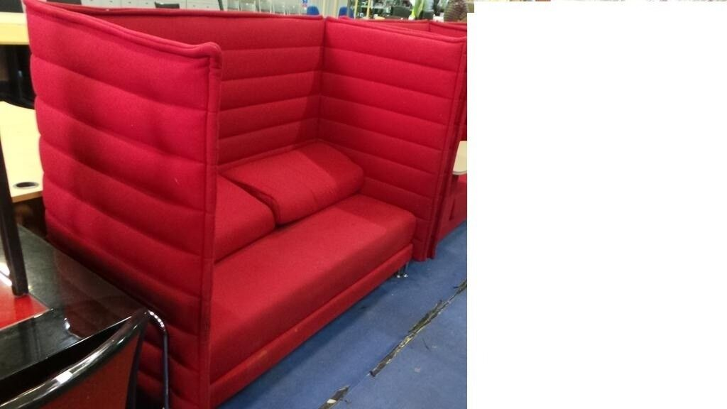 Designer Vitra Alcove Highback Sofa In Red Good Condition Rrp 5700 In Bristol Gumtree