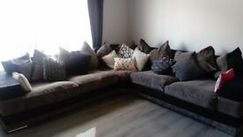 Mocha corner fabric sofa very comfortable a d large