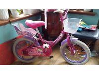 "Girls bike, Raleigh Molly bike, pink, 16"""