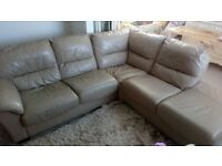FREE leather right hand corner sofa and chair.