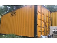 20ft x 8ft Steel shipping container.