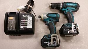 18V Makita Hammer Drill and Impact Driver Combo Set - 3.0Ah