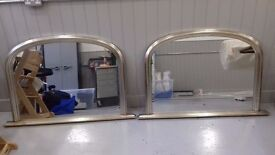 PAIR of MATCHING BEAUTIFUL MIRRORS silver/chrome