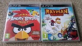 2 games Playstation 3 RAYMAN Origins - ANGRY BIRDS Trilogy