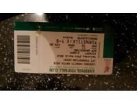 Liverpool legends ticket