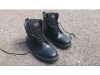 Work Boots Trojan steel toe capped safety boots size 9