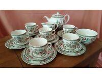 Vintage Johnson Bros Indian Tree Tea set.