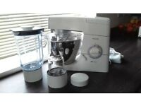 Kenwood Chef Classic White KM330, including Multi Mill and Juicer. In lovely condition.