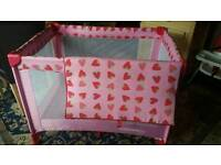 Pink playpen. £10