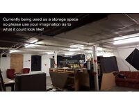 WareHouse Space to rent 1,000 Sq Ft could be used for Storage, Creative Studios, Event Space...