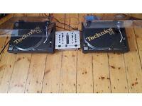TECHNICS 1210 MRK 2 and MIXER