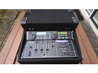 NUMARK TWIN CD / NUMARK MIXER SET IN FLIGHT CASE - CLEAN CONDITION
