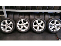 Ford 17 alloy wheels + 4 x tyres 225 45 17