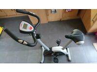 YORK Fitness exercise bike with a cardio monitor