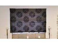 Luxury Roman blind and matching curtains for sale