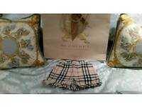 Baby girls Burberry shorts 9 months. Look lovely with tights