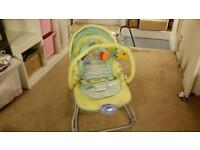 Vibrating bouncy chair
