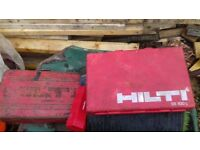 Hilti items and drill bits etc carriages