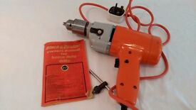 Vintage Black &Decker Power Drill -mint condition