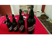 Growlers (1,1,2,3 litre bottles) for brewing