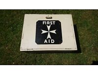 Vintage Timber First Aid Wall Mounted Storage Box St Johns Ambulance