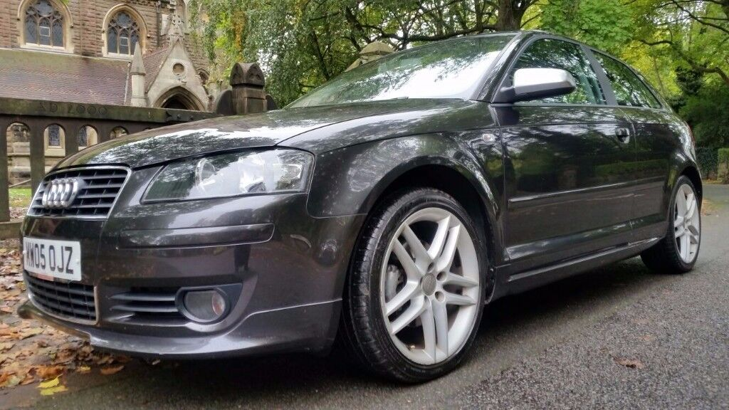 2005 AUDI A3 2.0 TDI SPORT S LINE RARE FACTORY BODY KIT AND ORIGINAL S3 TYPE CHROME MIRRORS BOSE